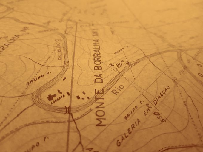 detail of map from Borralha